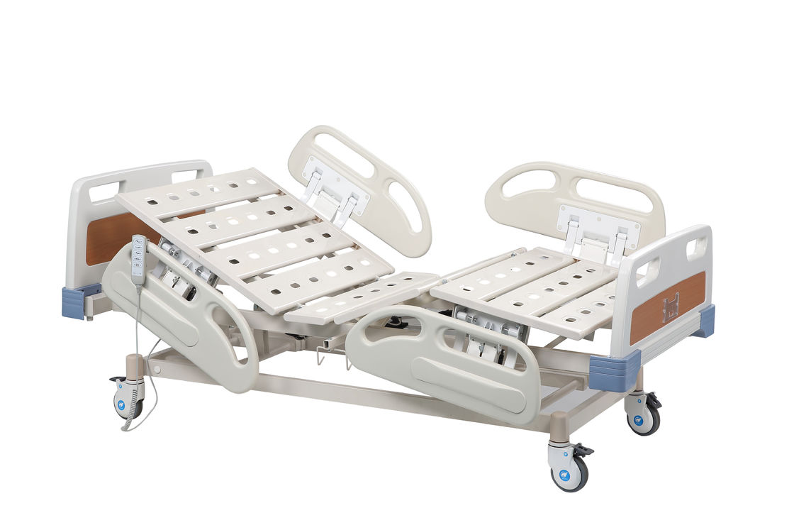 Five Functions Electric Hospital Bed Folding Metal For Patient